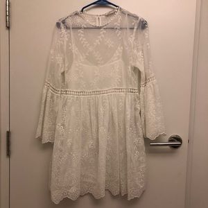Zara Woman premium collection embroidered dress